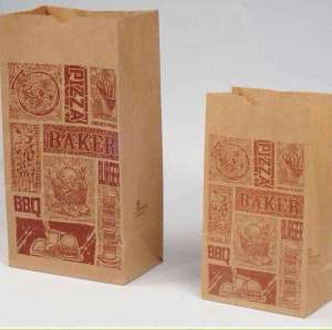 Food Delivery Cheap Promotional Kraft brown paper bag new design paper bag shopping bags