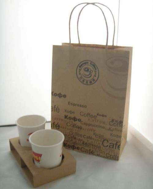 Store Usage Cheap Coffee Bubble Tea Promotional paper bag Shopping bags