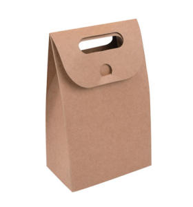 Vertical Promotional paper bag Shopping bags with hole handle