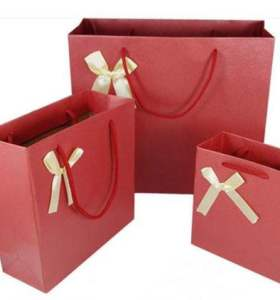 Gift Packing Supermarket sales Promotional paper bag Shopping bags with nice handle