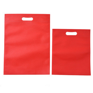 Colorful Heat Stamp shopping bags non woven bag with holes handle