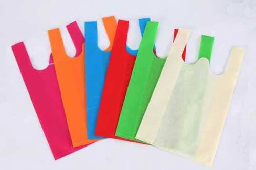 Heat Seal Vest type shopping bags non woven bag with handle