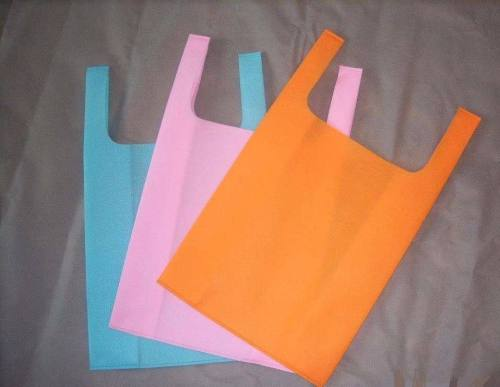Customized Printing Vest type shopping bags non woven bag with non woven handle