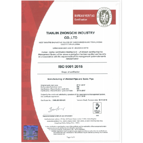 ISO 9001:2015 certified by BV