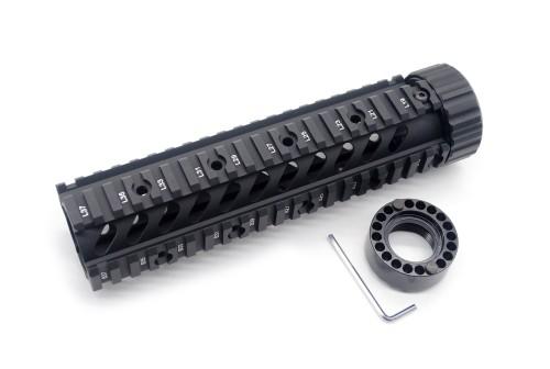 New Style M4 / AR-15 9'' Length Quad Rail Handguard Free Float Rail Mount Sytsem