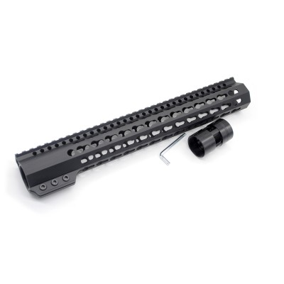 New Clamp On Black Tactical 13.5 inches Keymod handguard for AR15 M4 M16 with Steel Barrel Nut