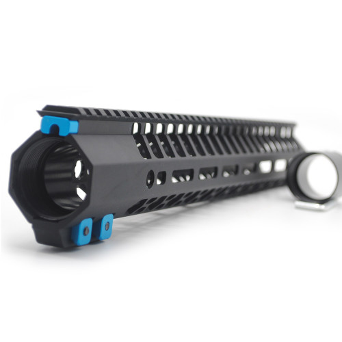 15 Inches Black M-lok Free Float clamp style Handguard for .308 High Profile DPMS Style