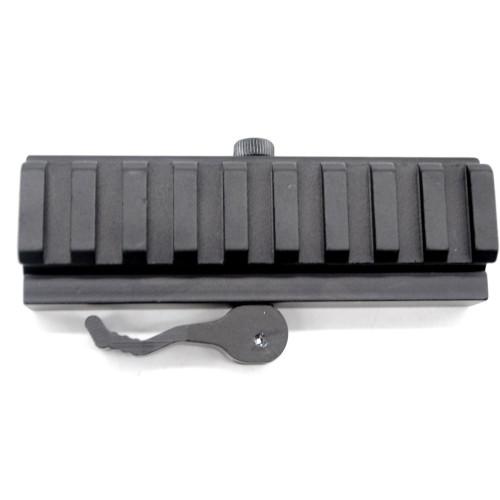 Tactical QD Detachable 20mm Picatinny Rail Low Profile Riser 9 Slots QR Block Mount