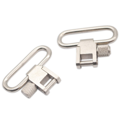 2-pack Silver 1.25 Inch Quick Detachable Heavy Duty Sling Swivel Quick Release gun Swivels for gun