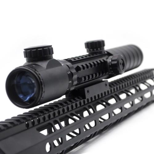 Hunting Riflescope 3-9x32EG Red&Green Illuminated Rifle reflex sight Scope with picatinny rail mount
