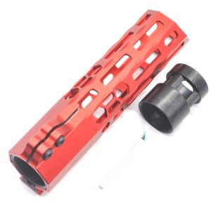 New Clamp style 7 inches red M-LOK free float AR15 M16 M4 rifle handguard with a curve slant cut nose fit .223/5.56 rifles