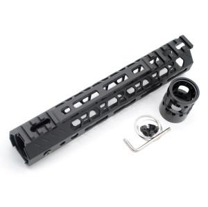 6-pack New Aplus NSR style black M-LOK free float AR15 handguard mlok bevel edge fits .223/5.56 rifles with steel barrel nut