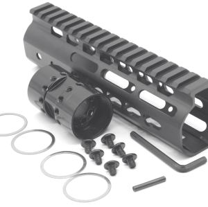 New NSR 7 Inch Length Black Free Floating Black KeyMod AR15 Handguard With Rail Mount Steel Barrel Nut