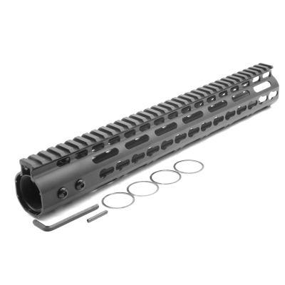 New NSR 13.5 Inches Length Black Free Floating Black KeyMod AR15 Handguard With Rail Mount Steel Barrel Nut