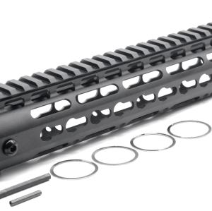 New NSR 12 Inches Length Black Free Floating Black KeyMod AR15 Handguard With Rail Mount Steel Barrel Nut