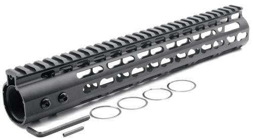 New NSR 12 Inches Length Black Free Floating Black KeyMod AR15 Handguard With Rail Mount Steel Barrel Nut