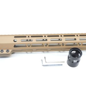 Clamp On TAN / Flat Dark Earth Tactical 11 inches M-LOK handguard for AR15 M4 M16 with Steel Barrel Nut fits .223/5.56 rifles
