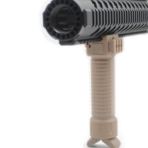 Trirock Tan / Flat dark earth Quick Deploy Bipod Grip Fits Picatinny Weaver 20mm 22mm Rail