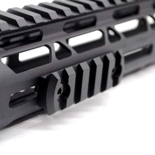 Black Color Aluminum 5 slots M-lok picatinny Rail Section in 2.25