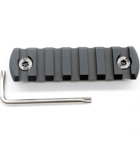 Black Color Aluminum 7 slots M-lok picatinny Rail Section in 3.04