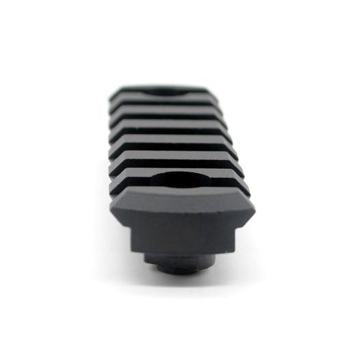 Black Color Aluminum 7 slots M-lok picatinny Rail Section in 3.04