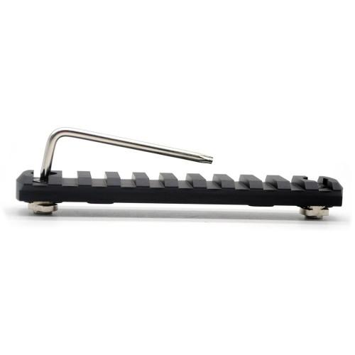 "Black Color Aluminum 11 slots M-lok picatinny Rail Section in 4.61"" length fits AR15 AR-15 M-LOK handguard"