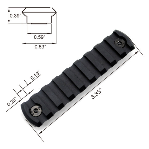 Black Color Aluminum M-LOK Black Aluminum Picatinny Rail Section with 5 , 7, 9, 11, 13 slots Fit AR15 AR 15
