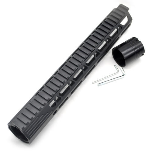 New Clamp Style Low profile Black 12 inches .308/7.62 LR_308 DPMS M-LOK Rail Mount System Ultra slim Free Float Handguard