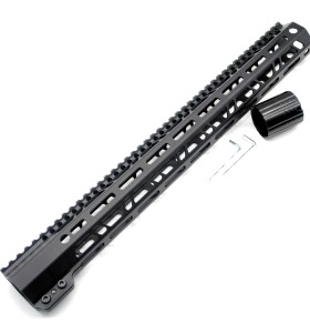New Clamp Style Low profile Black 17 inches .308/7.62 LR_308 DPMS M-LOK Rail Mount System Ultra slim Free Float Handguard