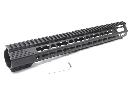 New Clamp Style Low profile Black 15 inches .308/7.62 LR_308 DPMS Keymod Rail Mount System Ultra slim Free Float Handguard