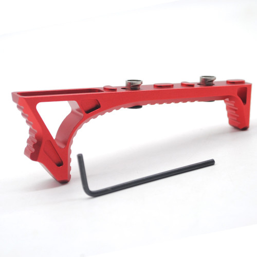 Red Aluminum LINK Curved Angled Foregrip Front Grip hand stop Fits KeyMod Handguard