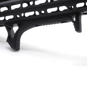 Black Aluminum LINK Curved Angled Foregrip Front Grip hand stop Fits KeyMod Handguard