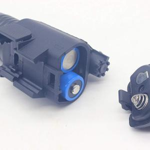 Trirock LED red laser Flashlight Torch Light Combo with Pressure Switch & 20mm Picatinny Rail