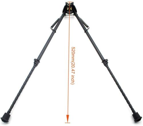 Trirock 13-23 Inches Five-Settings for different lengthBipod for Tactical Rifle with Sling Stud (without Adapter)