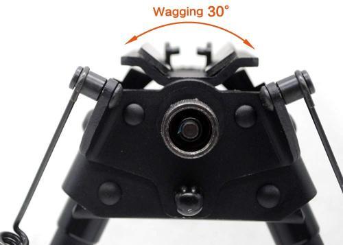 Trirock 13-23 Inches Five-settings Swivel Pivot Tiltable harris Bipod for hunting rifle