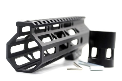 Clamp On Black Tactical 7 inches M-LOK handguard for AR15 M4 M16 with Steel Barrel Nut fits .223/5.56 rifles