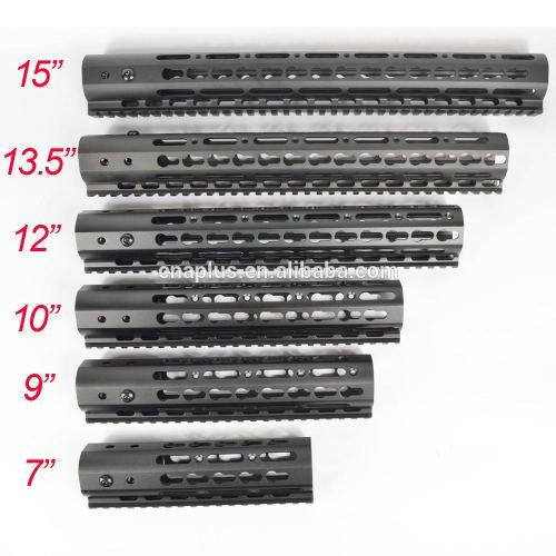 6-pack Black 7'' 9'' 10'' 12'' 13.5'' 15'' Length KeyMod AR15 Handguard with Free Float Rail Mounting System