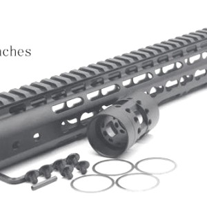 6-pack Black 7'' 9'' 10'' 12'' 13.5'' 15'' Length KeyMod AR15 Handguard with Free Float Rail Mounting System