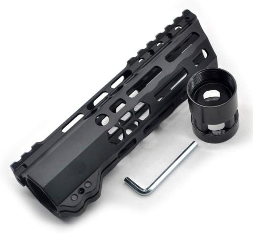 New Clamp style 7 inches black M-LOK free float AR15 M16 M4 rifle handguard with a curve slant cut nose fit .223/5.56 rifles