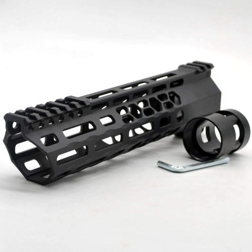 New Clamp style 9 inches black M-LOK free float AR15 M16 M4 rifle handguard with a curve slant cut nose fit .223/5.56 rifles