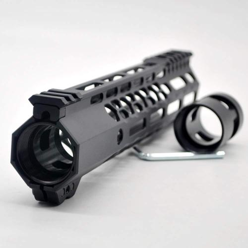 New Clamp style 10 inches black M-LOK free float AR15 M16 M4 rifle handguard with a curve slant cut nose fit .223/5.56 rifles