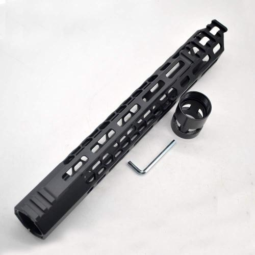 New Clamp style 12 inches black M-LOK free float AR15 M16 M4 rifle handguard with a curve slant cut nose fit .223/5.56 rifles