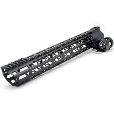 New Clamp style 15 inches black M-LOK free float AR15 M16 M4 rifle handguard with a curve slant cut nose fit .223/5.56 rifles
