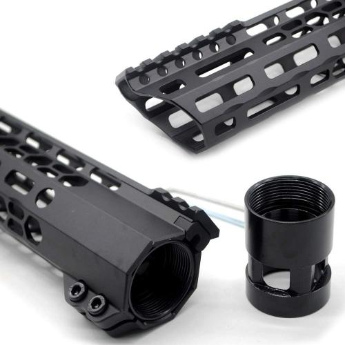 New Clamp style 17 inches black M-LOK free float AR15 M16 M4 rifle handguard with a curve slant cut nose fit .223/5.56 rifles