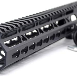 Trirock New Clamp On Black Tactical 11 inches Keymod handguard for AR15 M4 M16 with Steel Barrel Nut fits .223/5.56 rifles