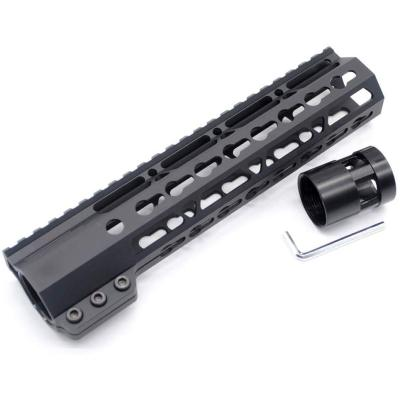 Trirock New Clamp On Black Tactical 9 inches Keymod handguard for AR15 M4 M16 with Steel Barrel Nut fits .223/5.56 rifles