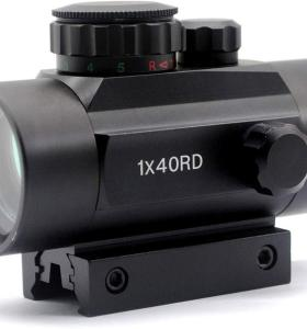 TRIROCK 5-MOA 40mm Reflex Red/Green Dot Sight Scope w/Lens Cover - Picatinny/Weaver/Dovetail Mount - Night-Vision Compatible, Parallax Free