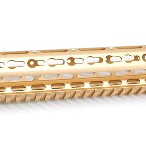 Gold NSR 15 Inches Free Float KeyMod AR15 AR-15 Handguard with Rail Mounted Steel Barrel Nut fit .223 5.56 rifles