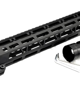 Clamp On Black Tactical 15 inches M-LOK handguard for AR15 M4 M16 with Steel Barrel Nut fits .223/5.56 rifles