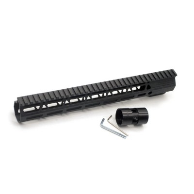 Clamp On Black Tactical 13.5 inches M-LOK handguard for AR15 M4 M16 with Steel Barrel Nut fits .223/5.56 rifles